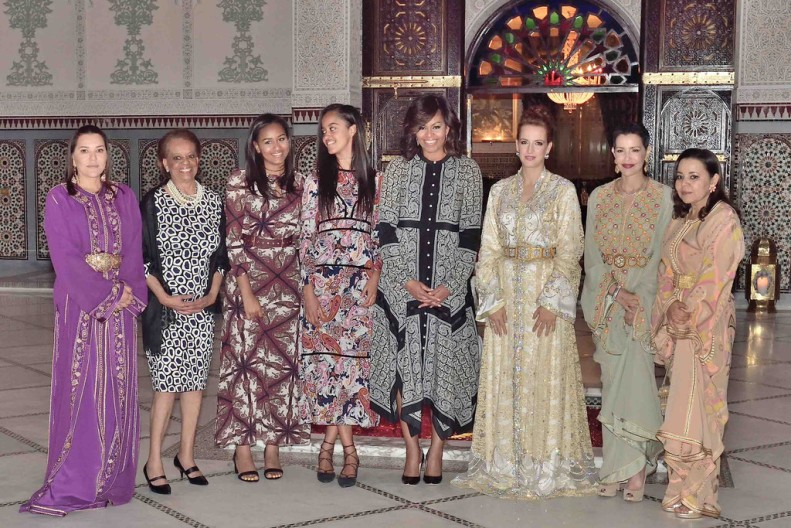 Morocco`s Lalla Salma Offers Iftar For Michelle Obama and Daughters in Marrakesh