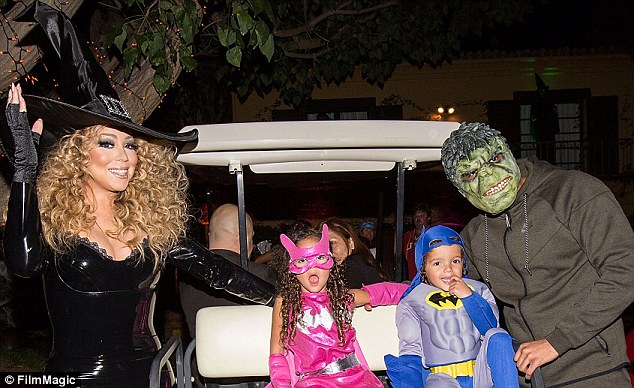 Mariah,Nick Cannon & Dem Babies.. At Their Halloween Party, Super Cute… Tiny, Master P, Floyd Mayweather Are On Deck!